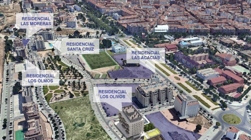 vista aerea Sector 1 viviendas comuñas y albain