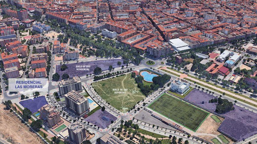 vista aerea Residencial las Moreras