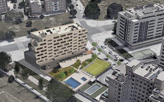 vista aerea viviendas Residencial Las Moreras